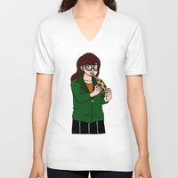 daria V-neck T-shirts featuring Daria by Jay Buggy