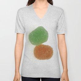 Orange and Green Gumdrops  Unisex V-Neck