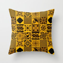 Anthropologie Bohemian Moroccan Yellow Traditional Artwork (N27). Throw Pillow