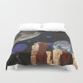 The slow trip in the universe Duvet Cover