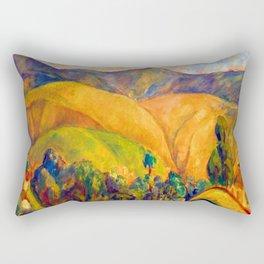 Diego Rivera Landscape Rectangular Pillow