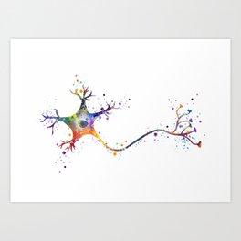 Neuron Art Brain Cell Anatomy Art Watercolor Neurology Medical Science Art Biology Gift Art Print