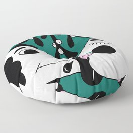 The dog and the girl Floor Pillow