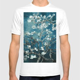 Van Gogh Almond Blossoms : Dark Teal T-shirt