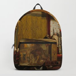 Pope Pius VII in the Sistine Chapel Oil Painting by Jean-Auguste-Dominique Ingres Backpack