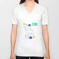 wrestling V-neck T-shirts featuring wrestling by Dai Ruiz