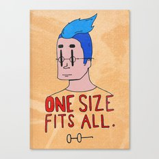 One Size Canvas Print
