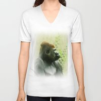 ape V-neck T-shirts featuring Ape by Shalisa Photography