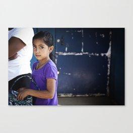 Bright Eyed Salvadoran Girl Canvas Print