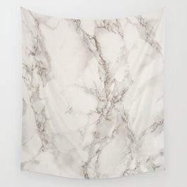 Classic Beige and White Marble Natural Stone Veining Quartz Wall Tapestry
