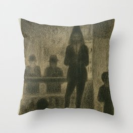 """Trombonist (Study for """"Circus Side Show"""") Throw Pillow"""