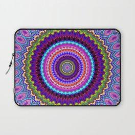purple feathers Mandala Laptop Sleeve