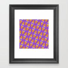 I LOVE PIZZA Framed Art Print