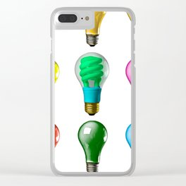 Lightbulbs Of A Differnt Color Clear iPhone Case