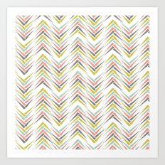 Wheat Chevron Art Print