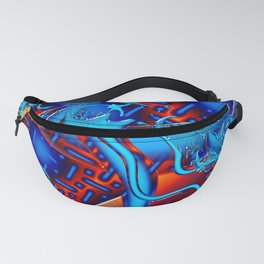 Android Fused Glass Fractal Fanny Pack