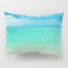 Blue Turquoise Tropical Sandy Beach Pillow Sham
