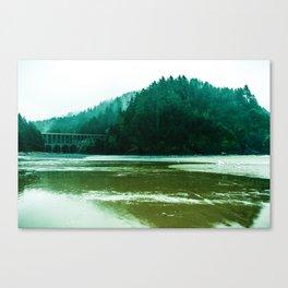 Foggy Beach in Oregon Canvas Print