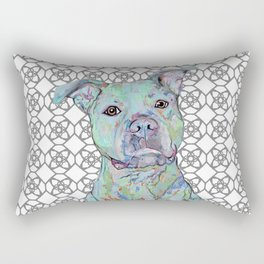 Staffy Portrait Rectangular Pillow