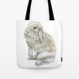 Lop Rabbit Watercolor Painting Bunny Tote Bag