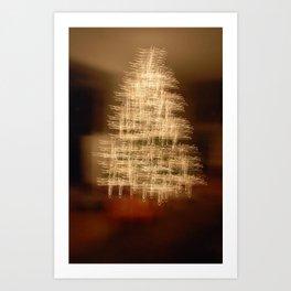Christmas Tree - Cross Art Print