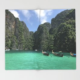 Phi Phi Islands Throw Blanket