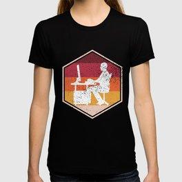 Retro Gamer Hexagon Design T-shirt