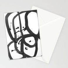 Black & White Abstract 1 Stationery Cards