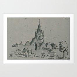 Adolf Painting ardoye in flanders Art Print