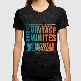Vintage Whites Wine Label T-shirt