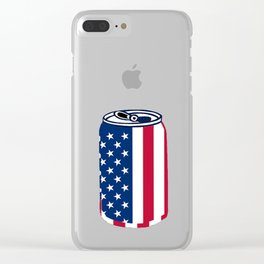 American Beer Can Flag Clear iPhone Case