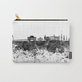 Bratislava skyline in black watercolor Carry-All Pouch