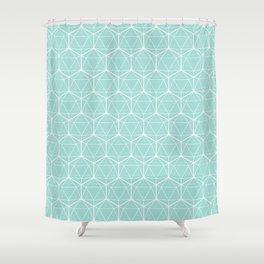 Icosahedron Seafoam Shower Curtain
