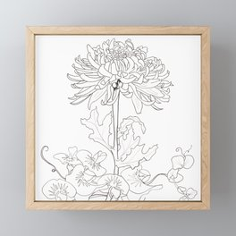 Flora of Lighthearted Living - Color or Paint Your Own! Framed Mini Art Print