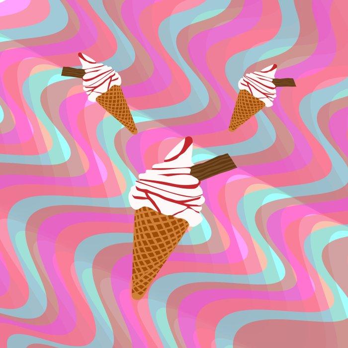 We All Scream For Ice Cream  Duvet Cover