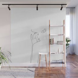 Figure line drawing illustration - Agnes Wall Mural