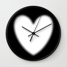 Heart evanescent white Wall Clock
