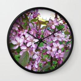 Profusion Crabapple Tree 3 Wall Clock