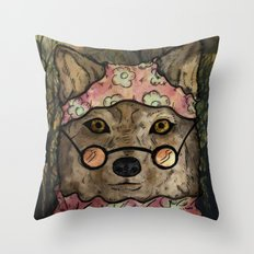 Abueloba (Granny-wolf) Throw Pillow