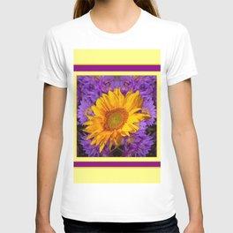 KANSAS SUNFLOWER PURPLE DECO GRAPHIC T-shirt
