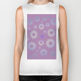 Multicolored flowers with neutral background in pastel colors. Biker Tank