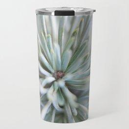 pine needles in blurry green shades Travel Mug