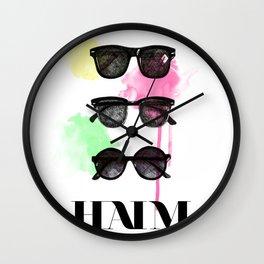 Haim (colour version) Wall Clock