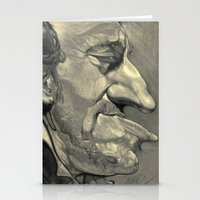 bruce springsteen Stationery Cards featuring Springsteen by Alan Carlstrom