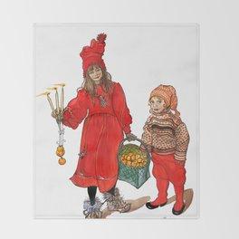 A Swedish Tale Throw Blanket