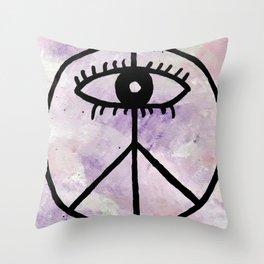 Peace Eye Throw Pillow