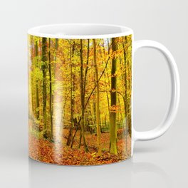 Autumn Forest with Fallen Leaves Coffee Mug