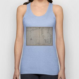 Vintage Map of Florida (1639) Unisex Tank Top