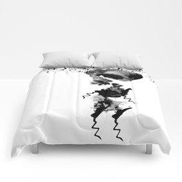 human in shower Comforters