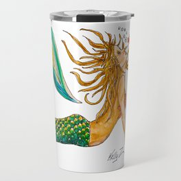 Mermaid Yoga Up Dog Pose Travel Mug